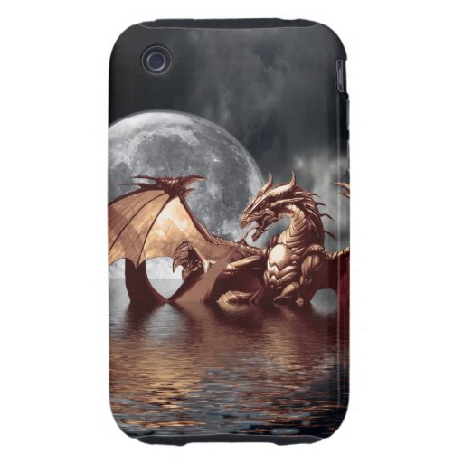 Dragon & Moon Fantasy Mythical iPhone 3 Case