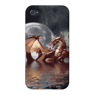Dragon & Moon Fantasy Mythical iPhone 4 Savvy iPhone 4 Cases