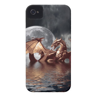 Dragon & Moon Fantasy Mythical iPhone Case iPhone 4 Case-Mate Case