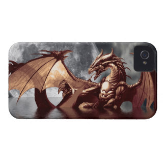 Dragon & Moon Fantasy Mythical iPhone Case iPhone 4 Cover