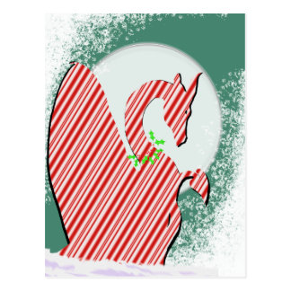 Dragon Moon Holiday (Candy Cane) Postcard