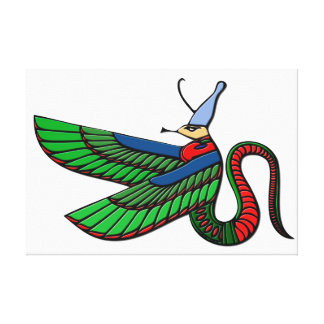 Dragon - mythical creature of ancient Egypt Canvas Prints