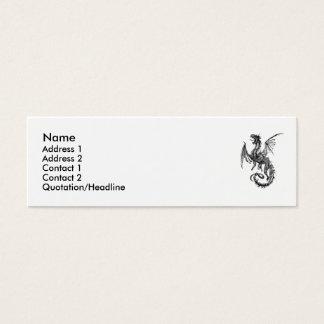 dragon, Name, Address 1, Address 2, Contact 1, ... Mini Business Card
