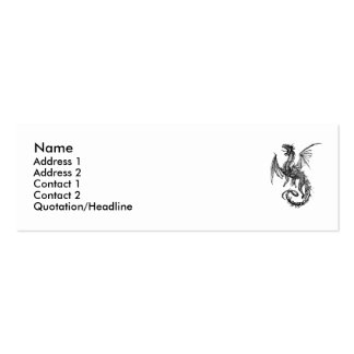 dragon, Name, Address 1, Address 2, Contact 1, ... Pack Of Skinny Business Cards