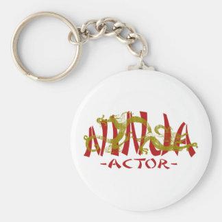 Dragon Ninja Actor Basic Round Button Key Ring