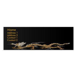 Dragon Of Buddhan Profile Card Business Card Template