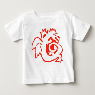 DRAGON ON BOARD! baby tee RED