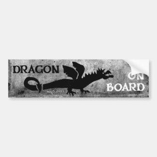 DRAGON ON BOARD! bumper sticker 4