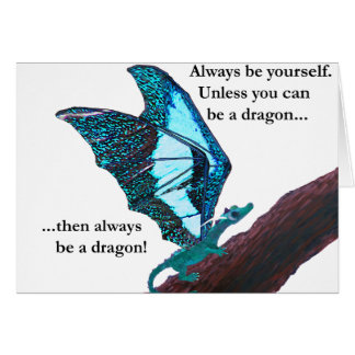 Dragon on Branch Card