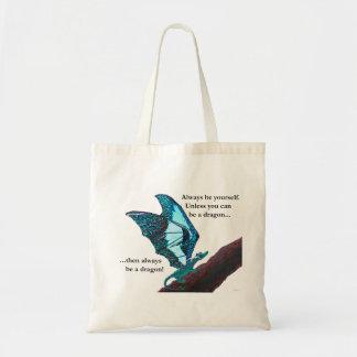 Dragon on Branch Tote Bag