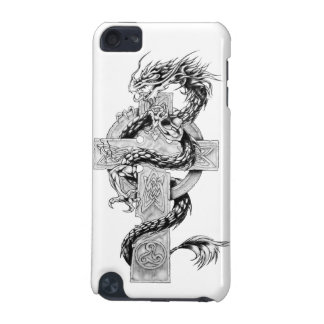 Dragon on Celtic Cross iPod Touch (5th Generation) Case