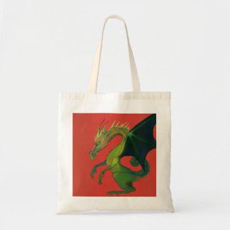 Dragon on Red Tote Bag
