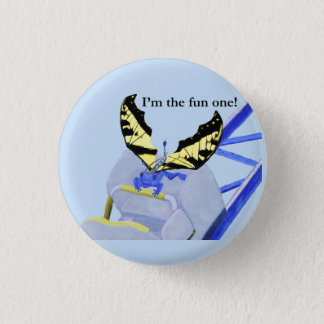 Dragon on Roller Coaster 3 Cm Round Badge