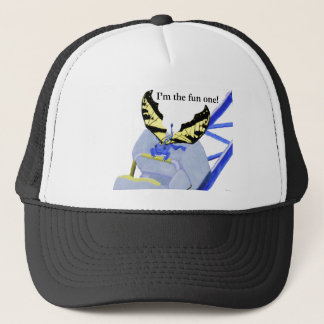 dragon on roller coaster trucker hat