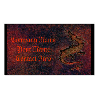 dragon on rusty metallic background pack of standard business cards