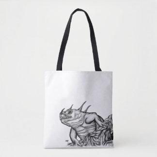 Dragon on the Rock Tote Bag