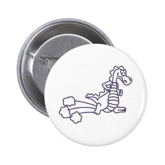 Dragon Outline 6 Cm Round Badge