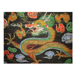 Dragon painting on the Korean ceiling of Sungnyemu Postcard