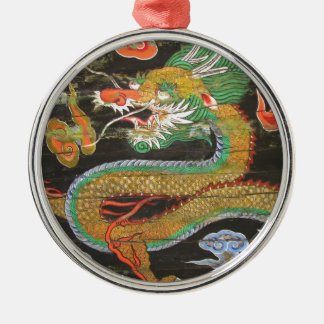 Dragon painting on the Korean ceiling of Sungnyemu Silver-Colored Round Decoration