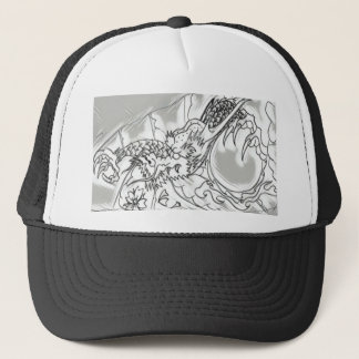 Dragon pen trucker hat