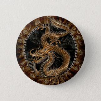 Dragon Pentagram 6 Cm Round Badge