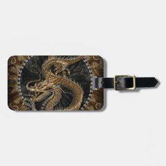 Dragon Pentagram Luggage Tag