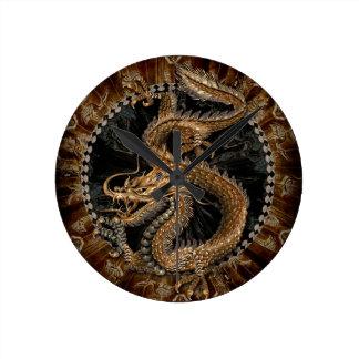 Dragon Pentagram Round Clock