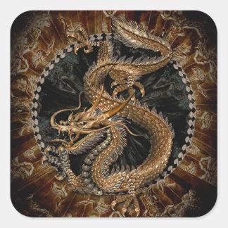 Dragon Pentagram Square Sticker