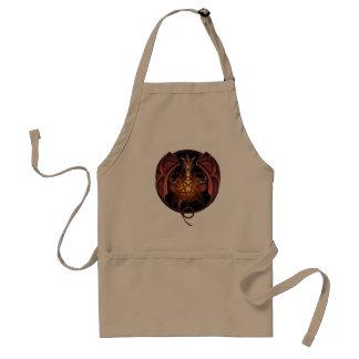 Dragon pentagram standard apron