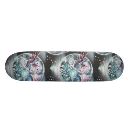 dragon planet fantasy skateboard