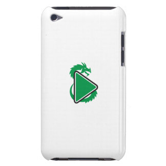 Dragon Play Button Side Retro Barely There iPod Cases