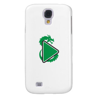 Dragon Play Button Side Retro Galaxy S4 Covers