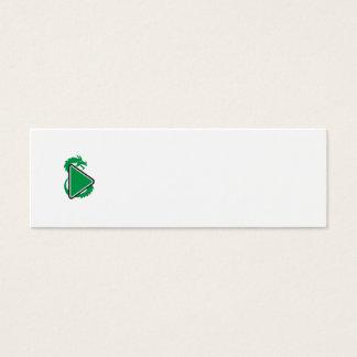 Dragon Play Button Side Retro Mini Business Card