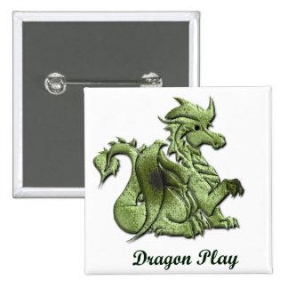 Dragon Play Square Button