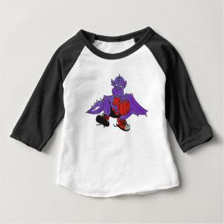 Dragon playing basketball baby T-Shirt