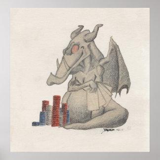 Dragon Poker Print