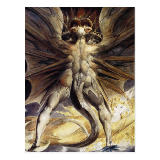 Dragon Postcard:  by William Blake Postcard