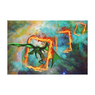 Dragon Race Canvas Print