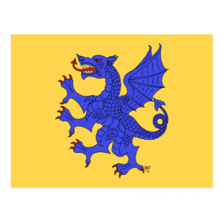 Dragon Rampant Azure Postcard