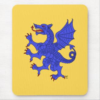 Dragon Rampant (Blue) Mouse Pad