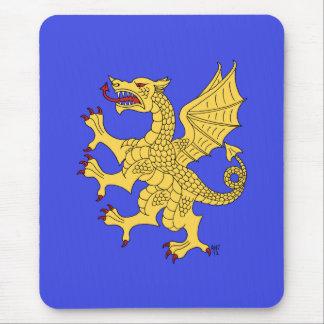 Dragon Rampant (Gold) Mouse Pad