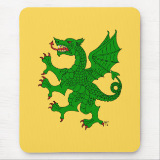 Dragon Rampant (Green) Mouse Pad