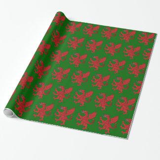 Dragon Rampant Gules Wrapping Paper