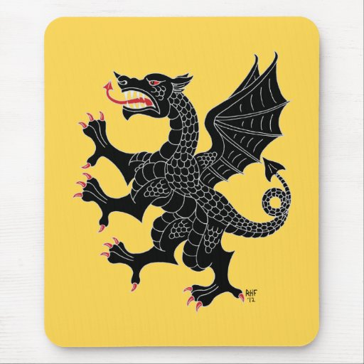 Dragon Rampant Sable Mousepad