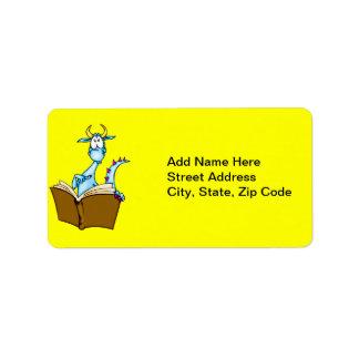 Dragon Reading Book Label