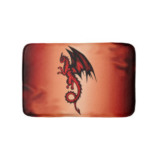 Dragon red bath mat