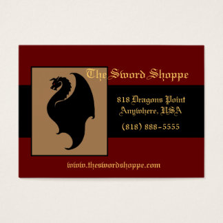 Dragon Red & Black Business Card