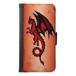 Dragon red samsung galaxy s6 wallet case