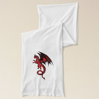 Dragon red scarf