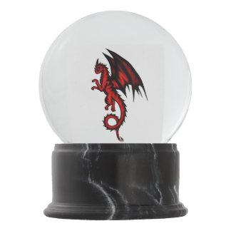 Dragon red snow globes